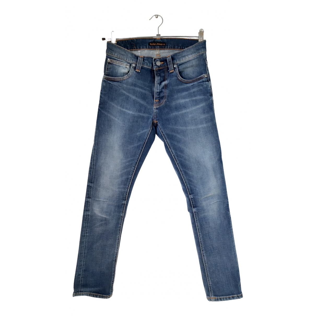 Nudie \N Blue Cotton Jeans for Men 28 US