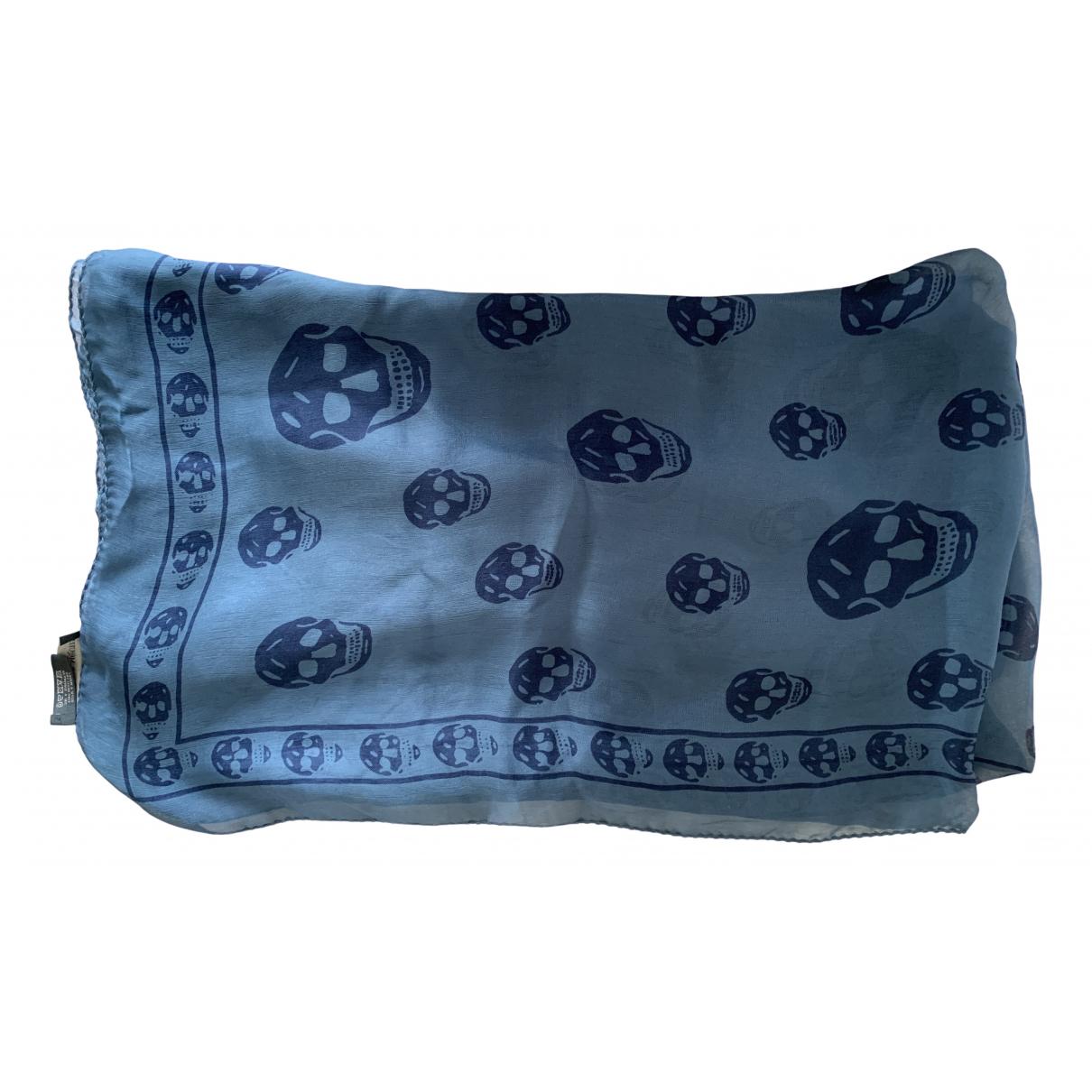 Alexander Mcqueen \N Turquoise Silk scarf for Women \N