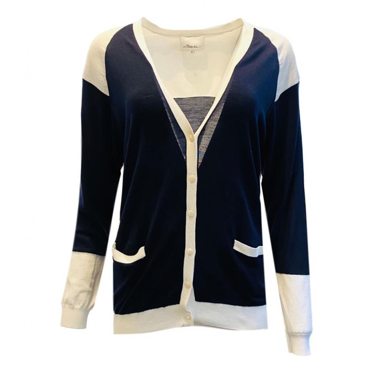 3.1 Phillip Lim \N Pullover in  Marine Wolle
