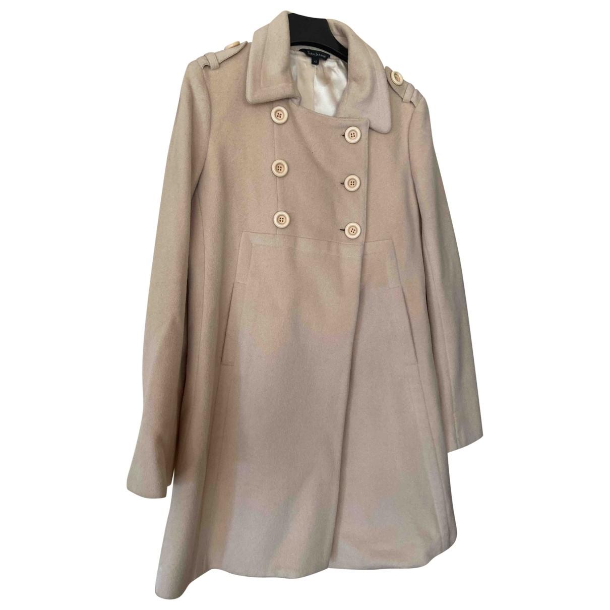 Tara Jarmon \N Beige Wool coat for Women 40 FR