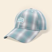 Plaid Pattern Baseball Cap