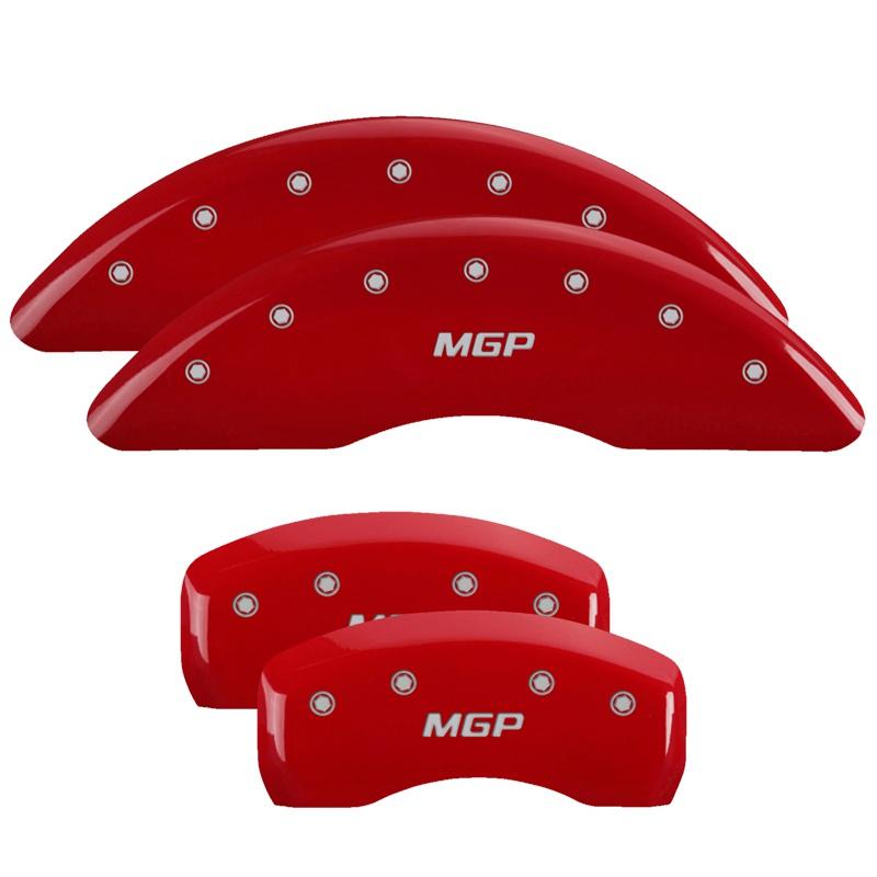 MGP Caliper Covers 41002SMGPRD Set of 4: Red finish, Silver MGP / MGP Jaguar