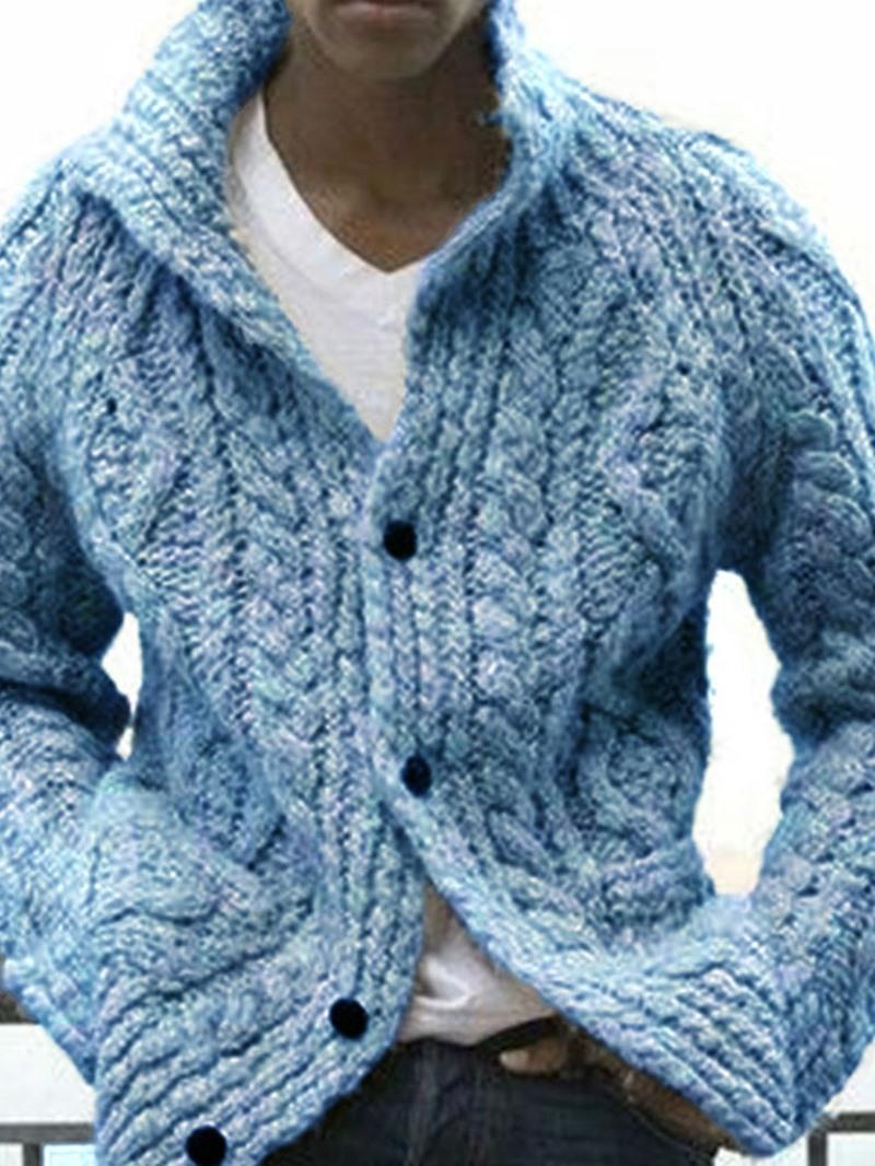 Ericdress Plain Standard Stand Collar Slim Sweater