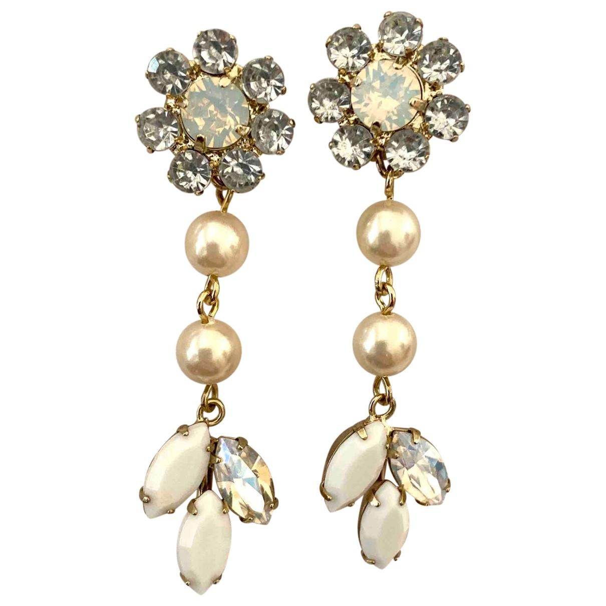 Jill Stuart - Boucles doreilles   pour femme en cristal - blanc
