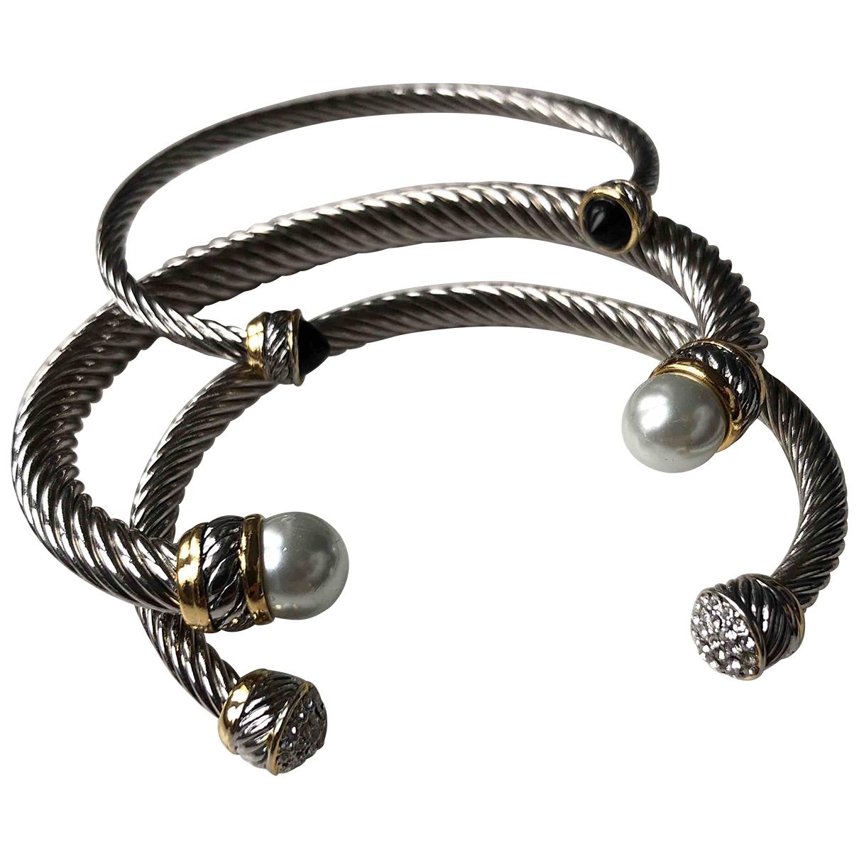 Non Signé / Unsigned Toi & Moi Silver Metal bracelet for Women \N