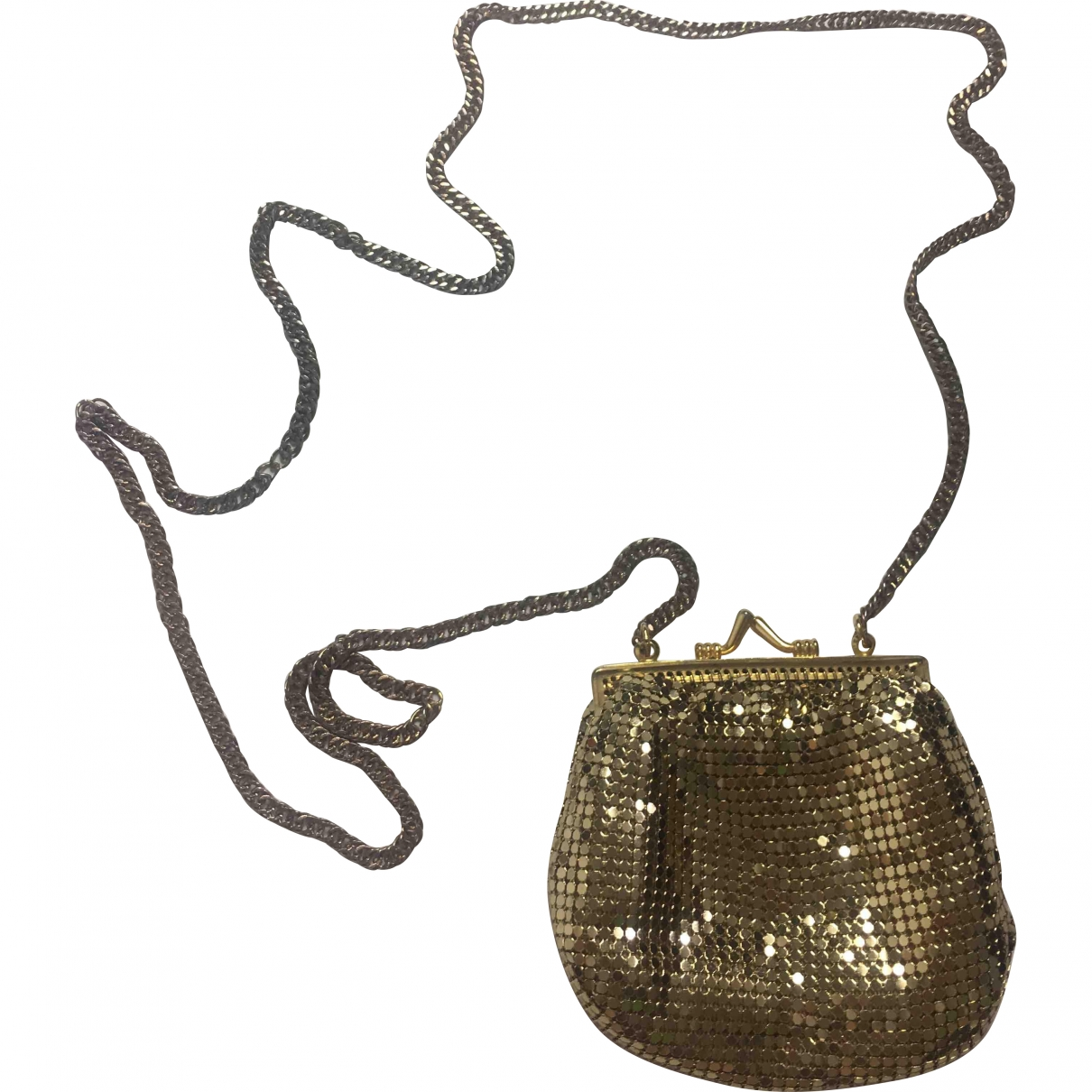 Non Signé / Unsigned \N Gold Metal handbag for Women \N
