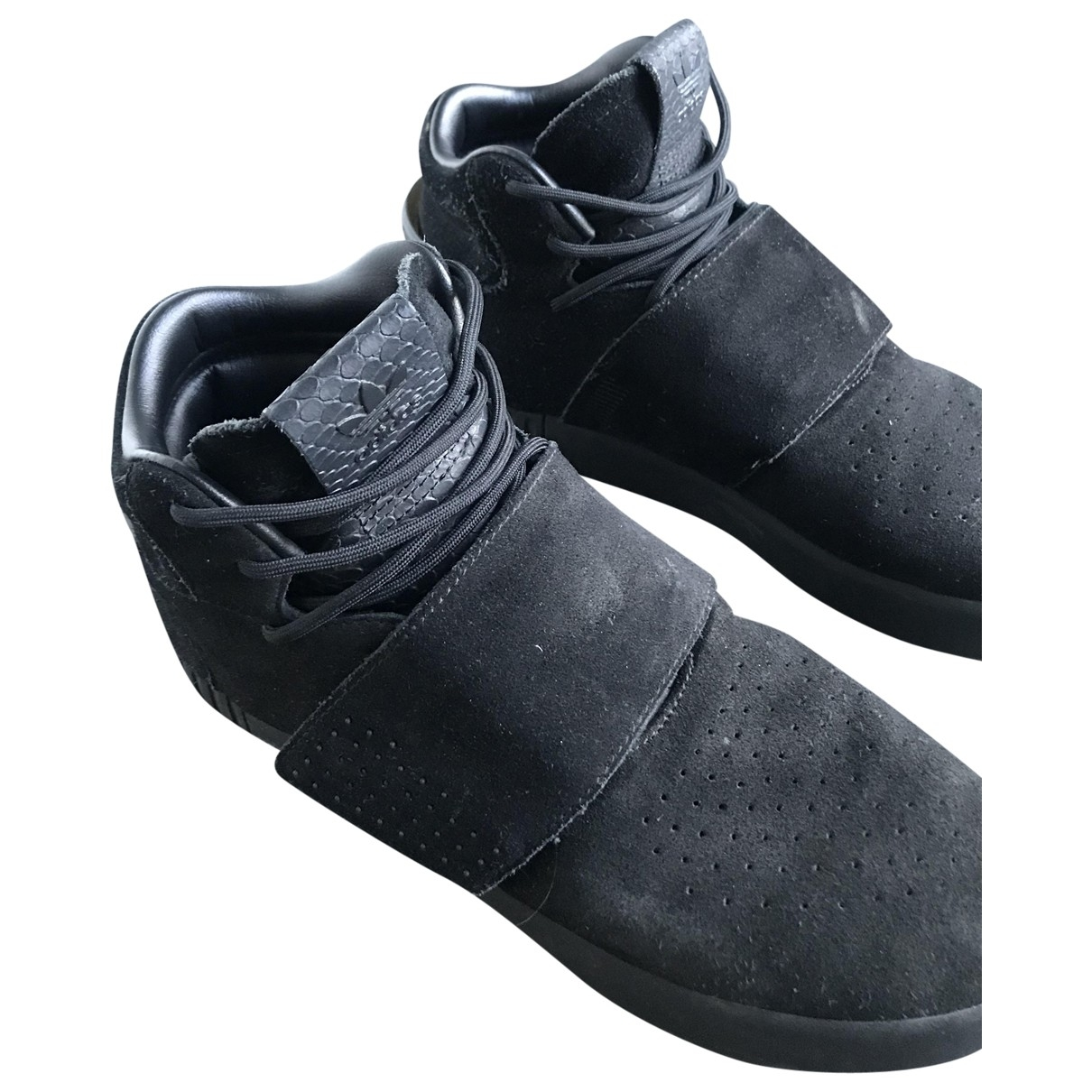 Adidas Tubular Sneakers in  Schwarz Veloursleder