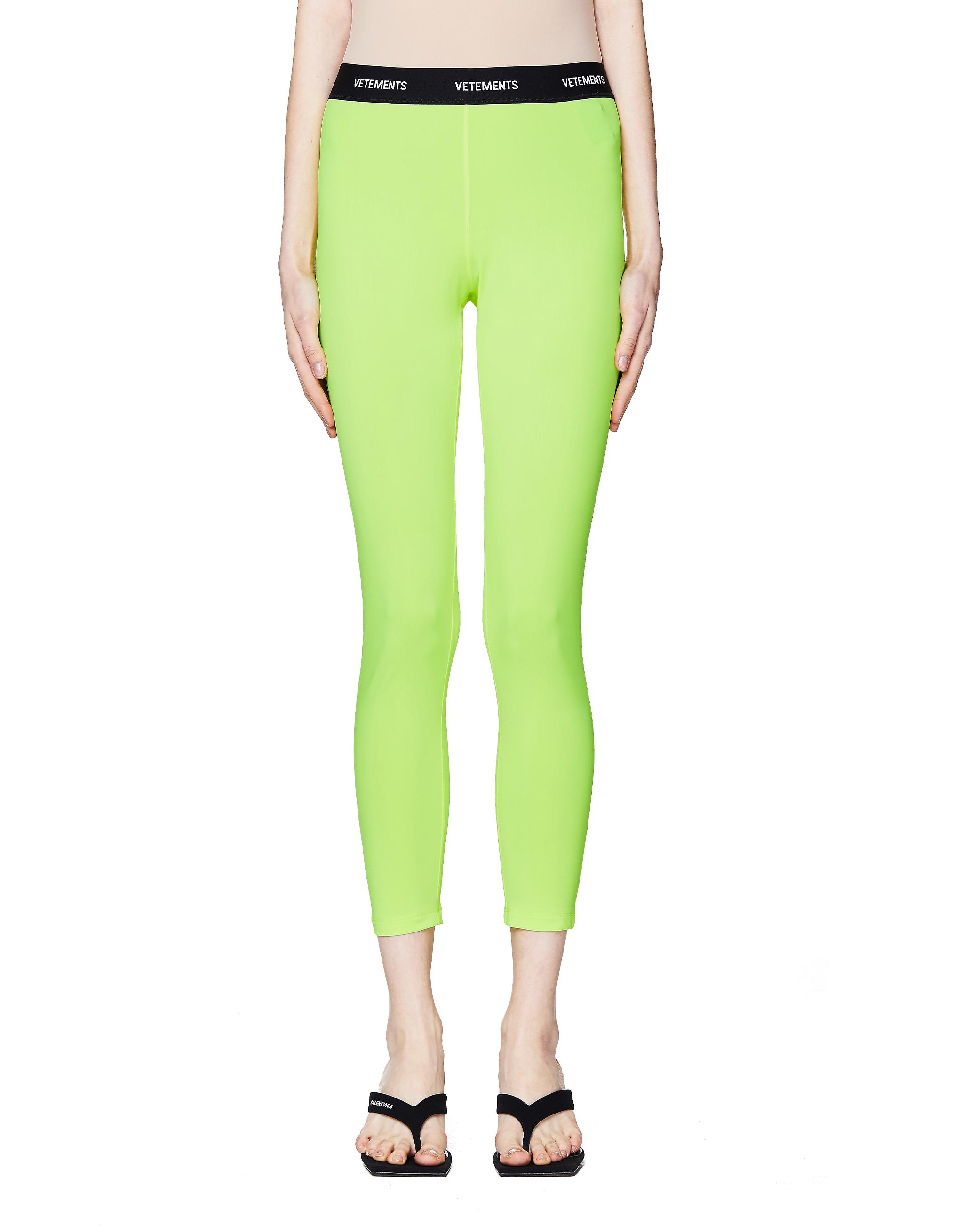 Vetements Neon Yellow Leggings