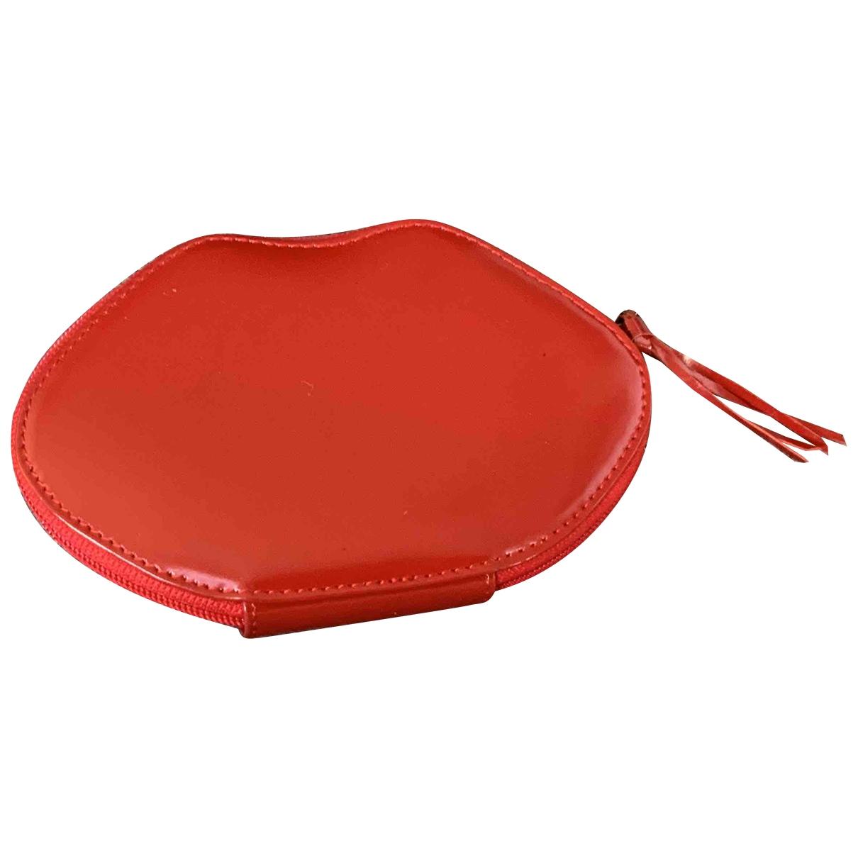 Sonia Rykiel \N Kleinlederwaren in  Rot Leder