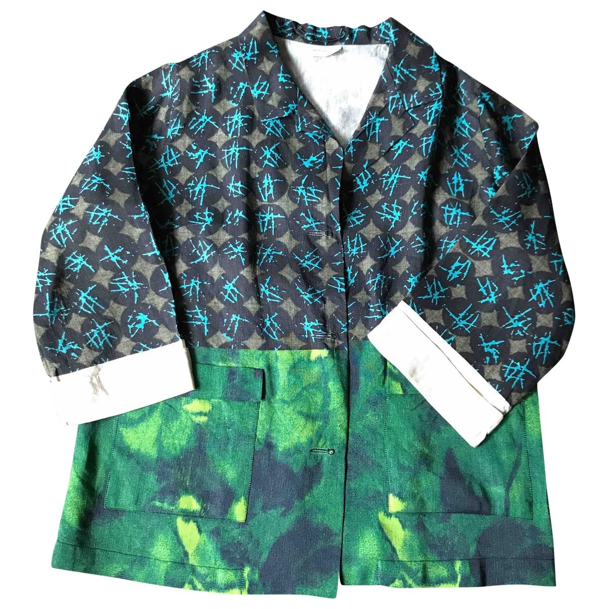 Dries Van Noten \N Green Silk jacket for Women 42 FR