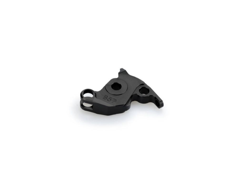 Puig 6578N Brake Lever Adapter - Black Aprilia Tuono V4R 2011