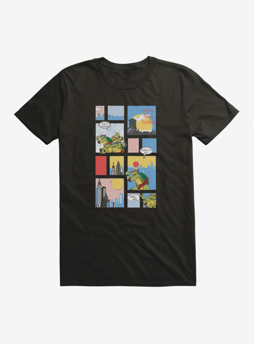 Teenage Mutant Ninja Turtles Comic Strip Time To Shell Up T-Shirt