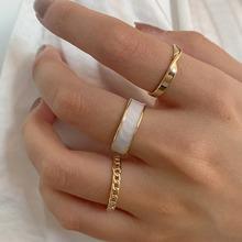 3 piezas anillo con diseño de cadena