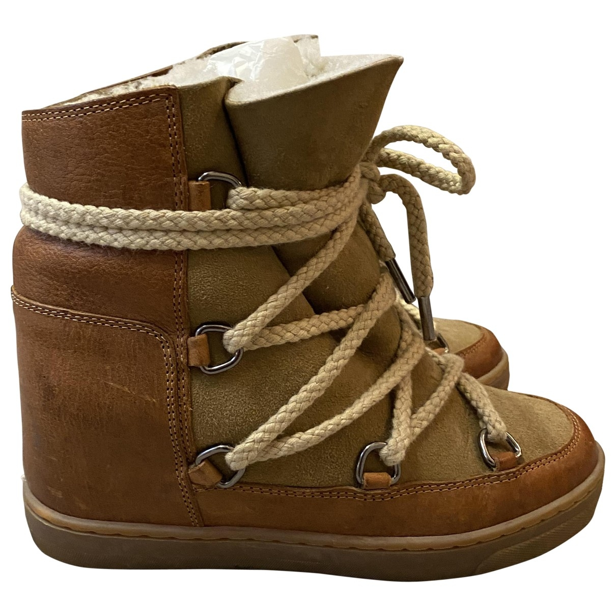 Isabel Marant - Boots Nowles pour femme en cuir - camel