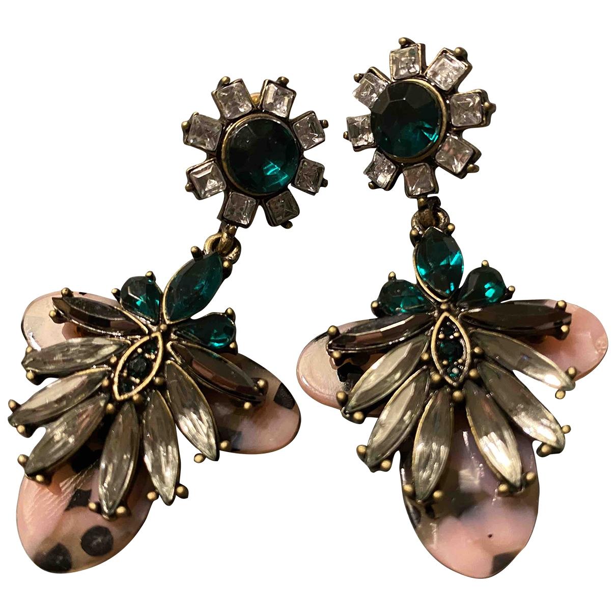 - Boucles doreilles   pour femme en metal - multicolore