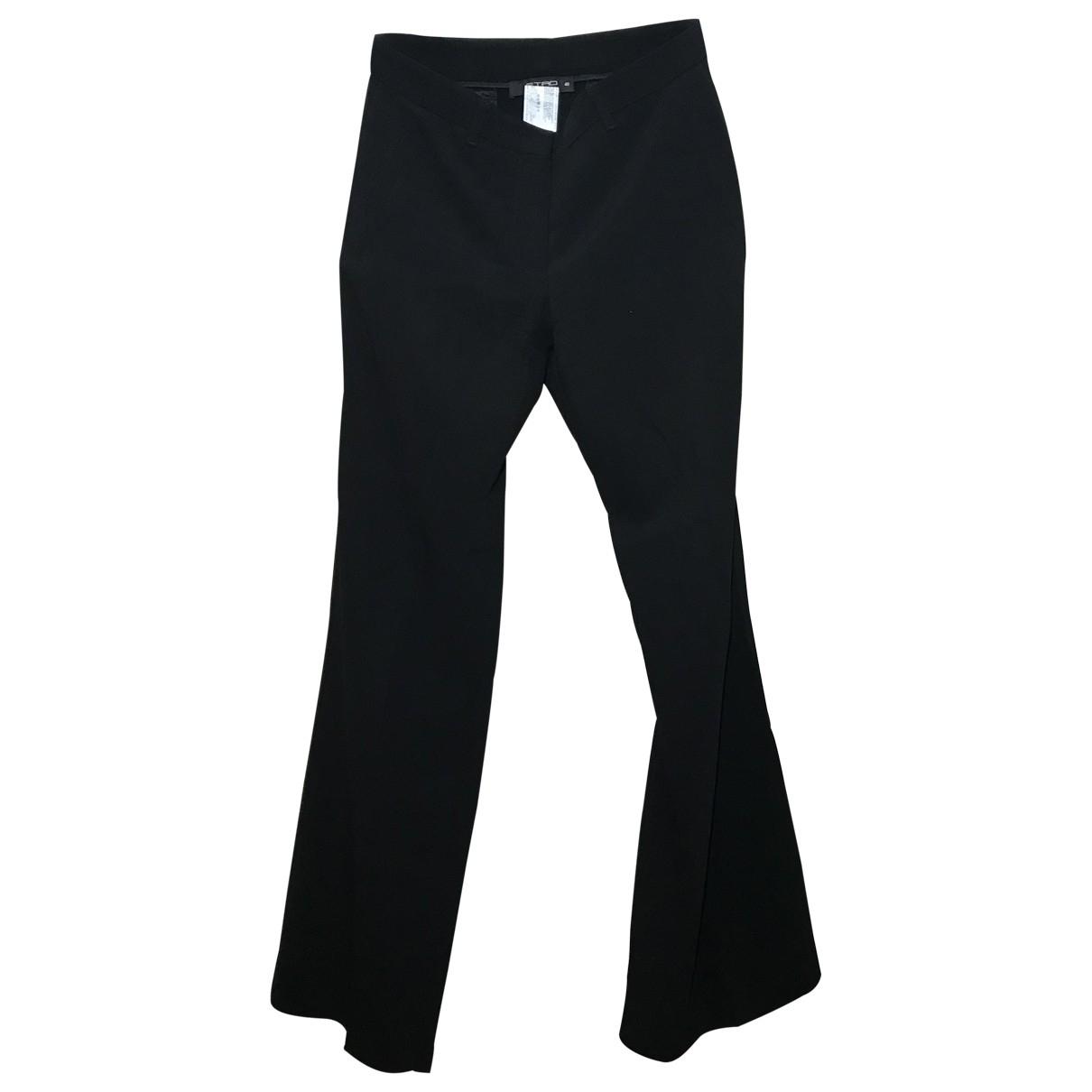 Etro \N Black Trousers for Women 40 FR