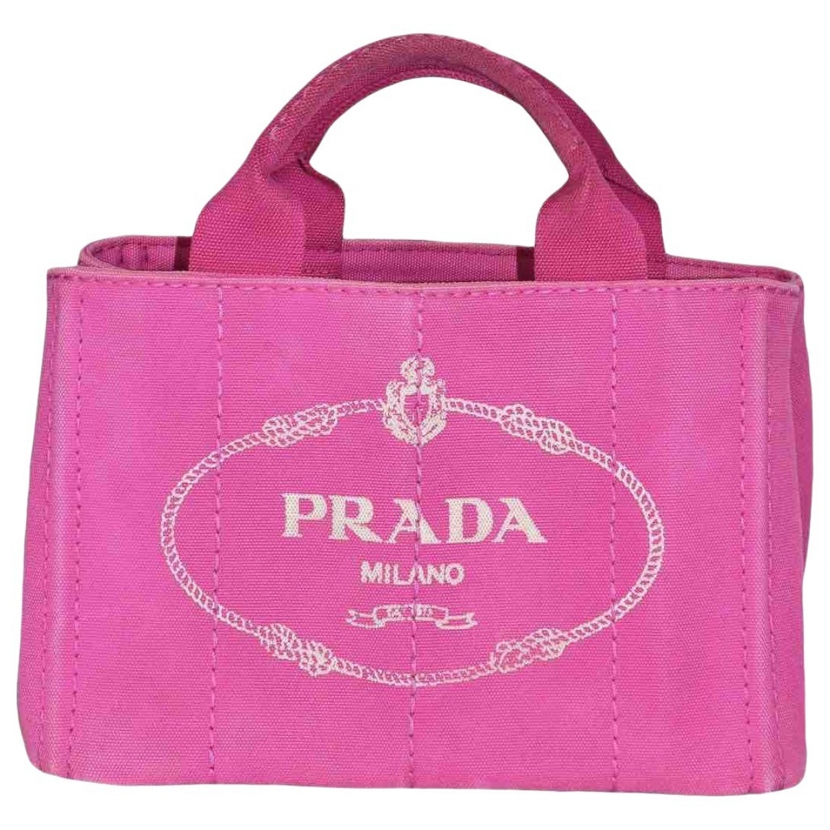 Prada \N Handtasche in  Rosa Baumwolle