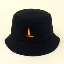 Sombrero cubo de niñitos con bordado de barco