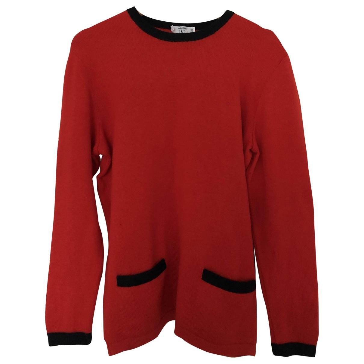 Valentino Garavani - Pull   pour femme en laine - rouge