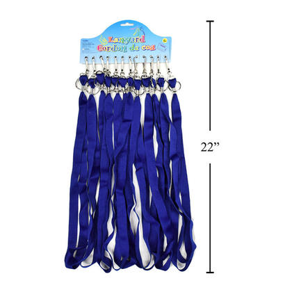 Blue Lanyard Neck Straps with Hook & Ring Key Chain, 17