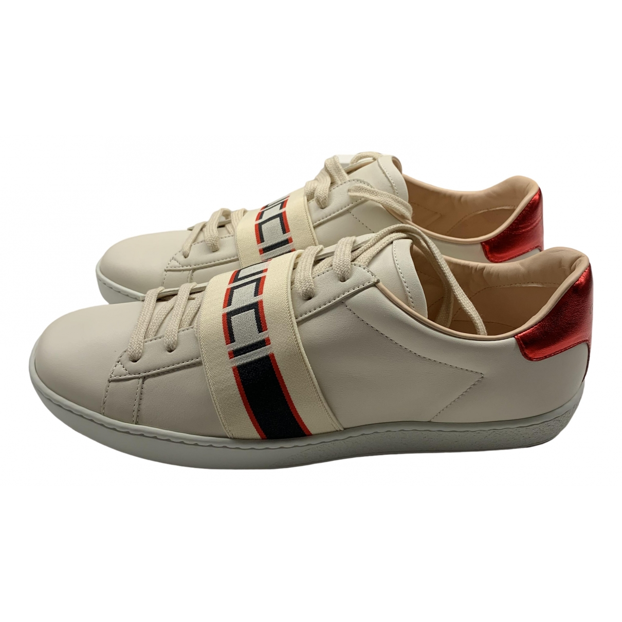 Gucci \N Beige Leather Trainers for Men 41EU
