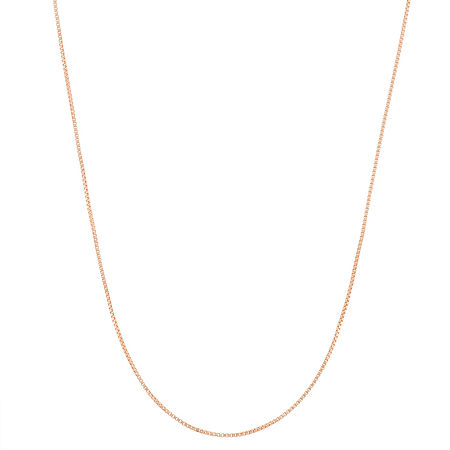14K Gold Over Silver 23 Inch Semisolid Box Chain Necklace, One Size , No Color Family