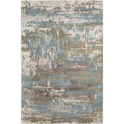 Arte RTE-2301 8' x 11' Rectangle Modern Rug in Sage  Teal  Taupe  Medium Grey  Khaki  Dark