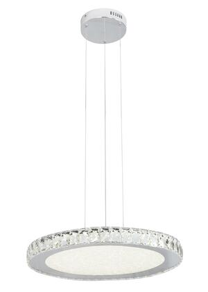 FT20 LED Lighting with Stainless Steel and Crystal Materials and 36 Watts in Clear