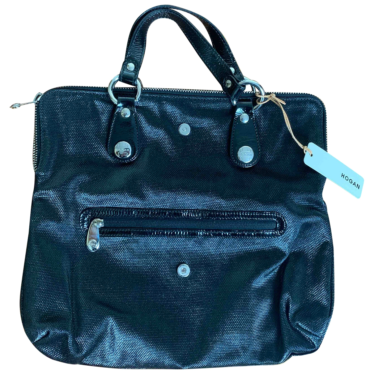 Hogan \N Black Patent leather handbag for Women \N