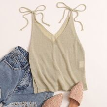 Tie Shoulder Cami Knit Top