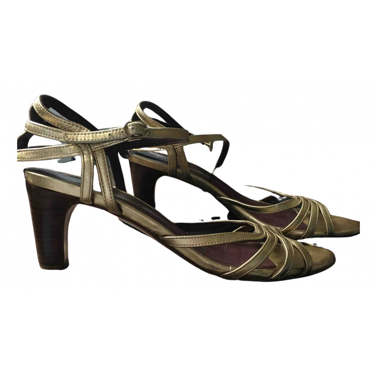 Avril Gau N Gold Leather Sandals for Women 38 EU