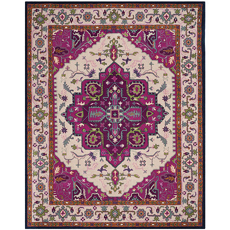 Safavieh Crawford Geometric Hand Tufted Wool Rug, One Size , Pink