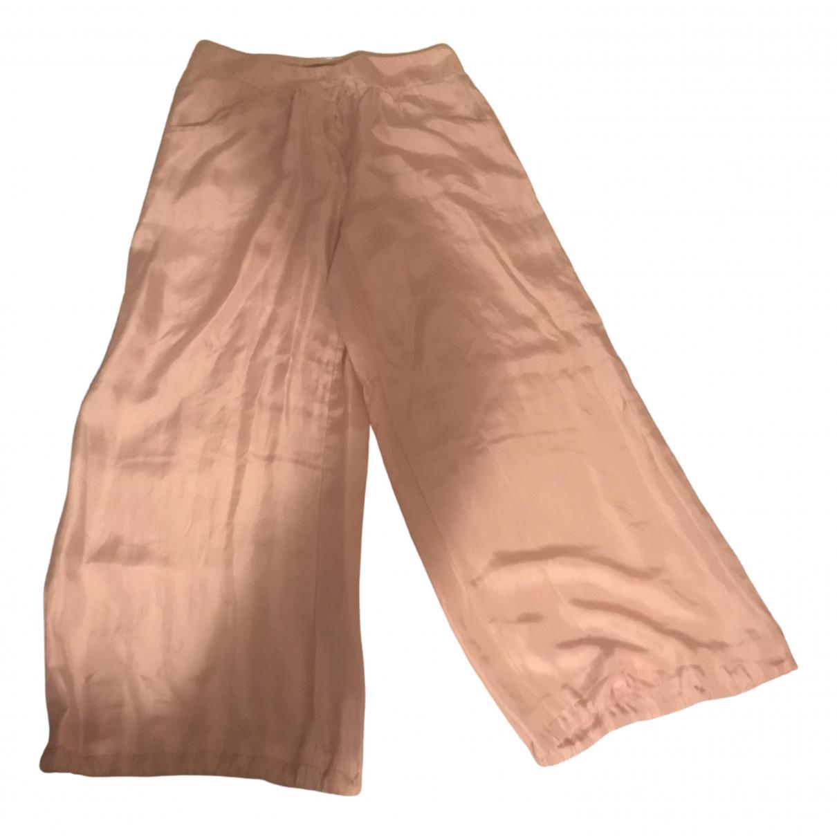 Pantalon largo de Seda Armani Jeans