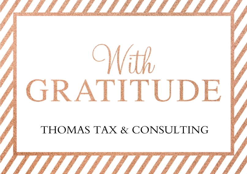 Thank you Flat Business Greeting Cards, Business Printing -With Gratitude
