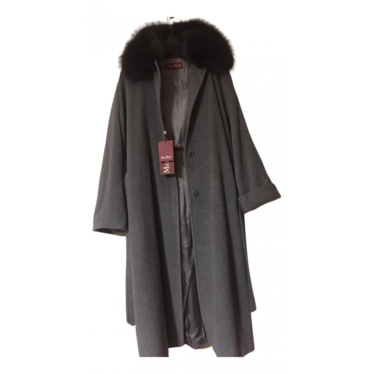 Max Mara Studio - Manteau   pour femme en laine - gris