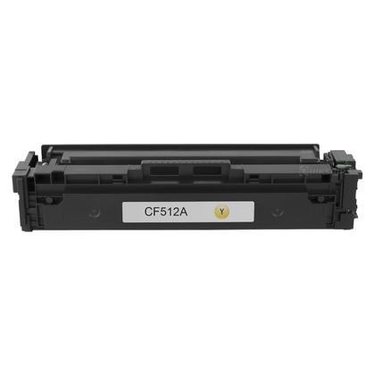 Compatible HP 204A CF512A Yellow Toner Cartridge - Economical Box