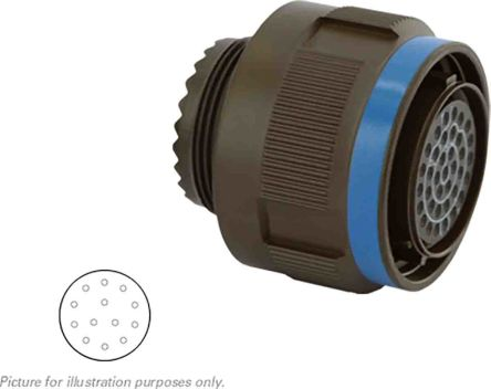 Souriau , 8D 13 Way Cable Mount MIL Spec Circular Connector Plug, Socket Contacts,Shell Size 11, Screw Coupling,