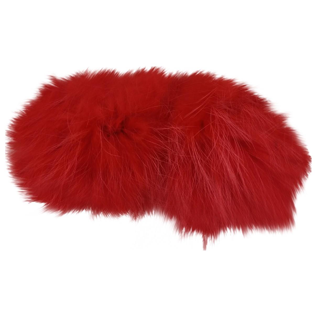 - Gants   pour femme en renard - rouge