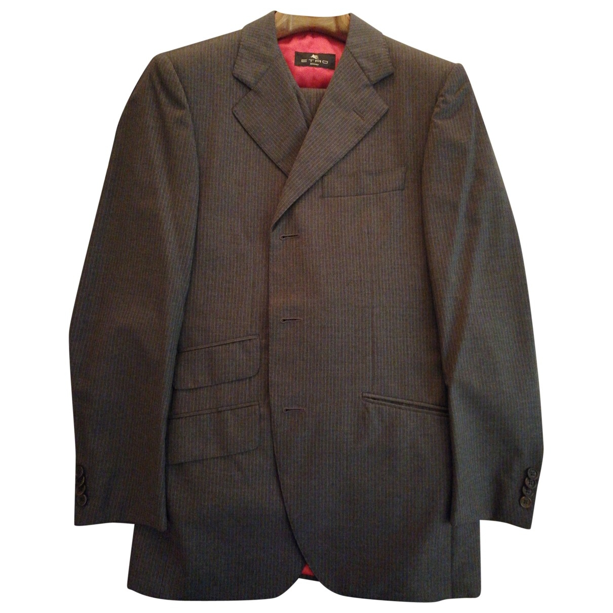 Etro \N Anthracite Cotton jacket  for Men 48 FR