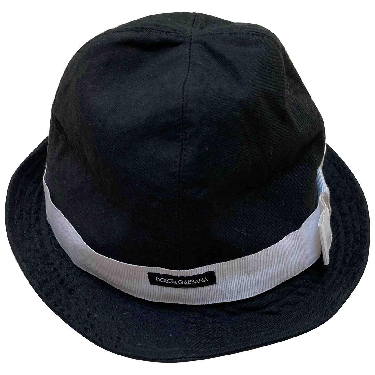 Dolce & Gabbana - Chapeau   pour femme en coton - noir