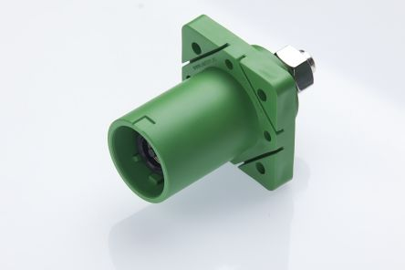 Radiall , SPPC-HK IP2X, IP67 Black Cable Mount 1P Industrial Power Plug, Rated At 400.0A, 1.25 kV,With Phase Inverter