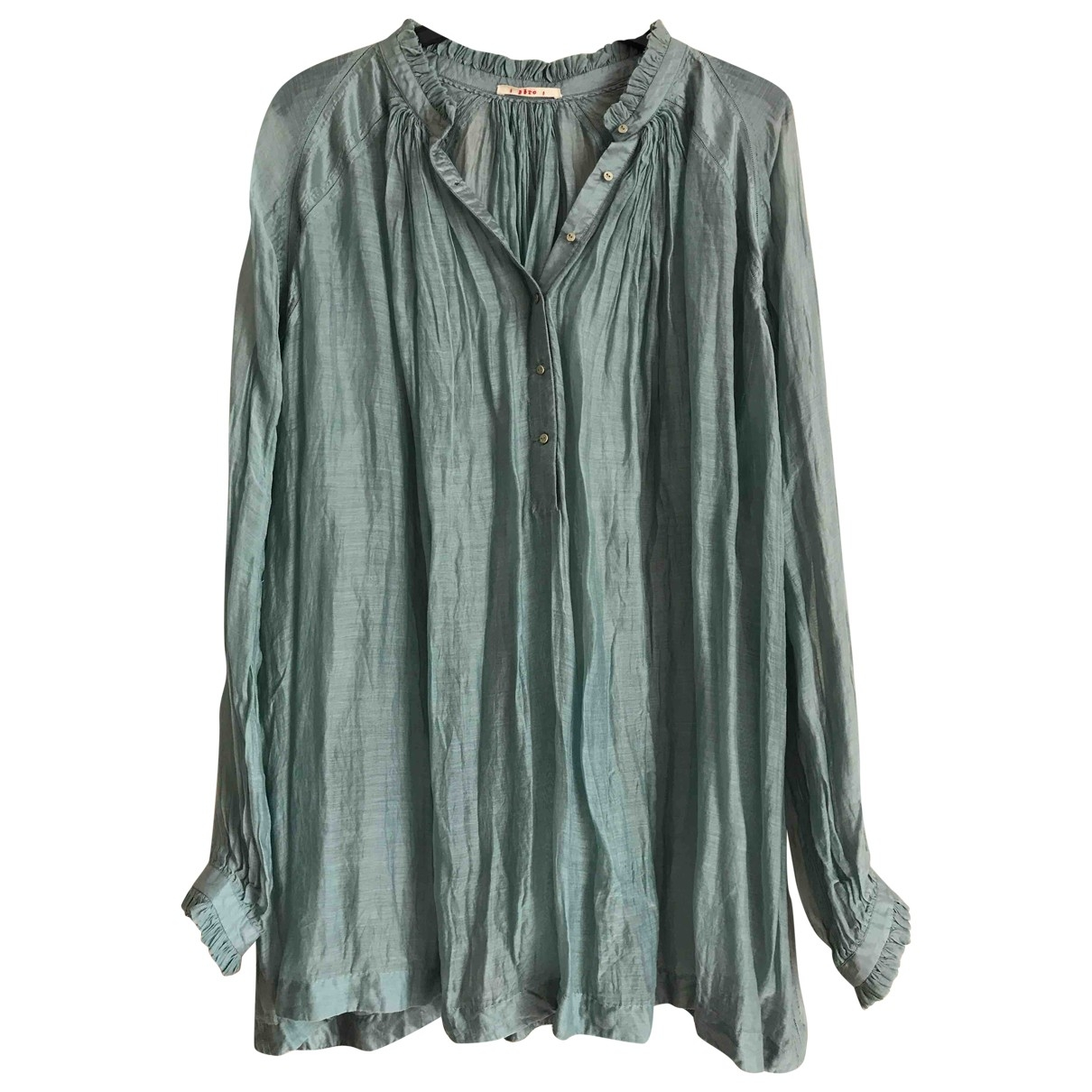 Non Signé / Unsigned \N Turquoise Cotton  top for Women 40 IT
