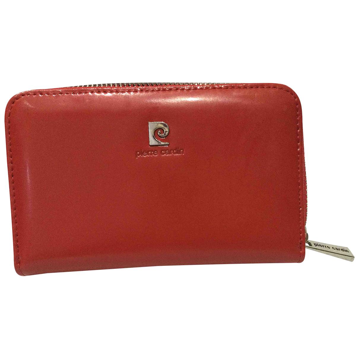 Pierre Cardin - Portefeuille   pour femme en cuir verni - rouge