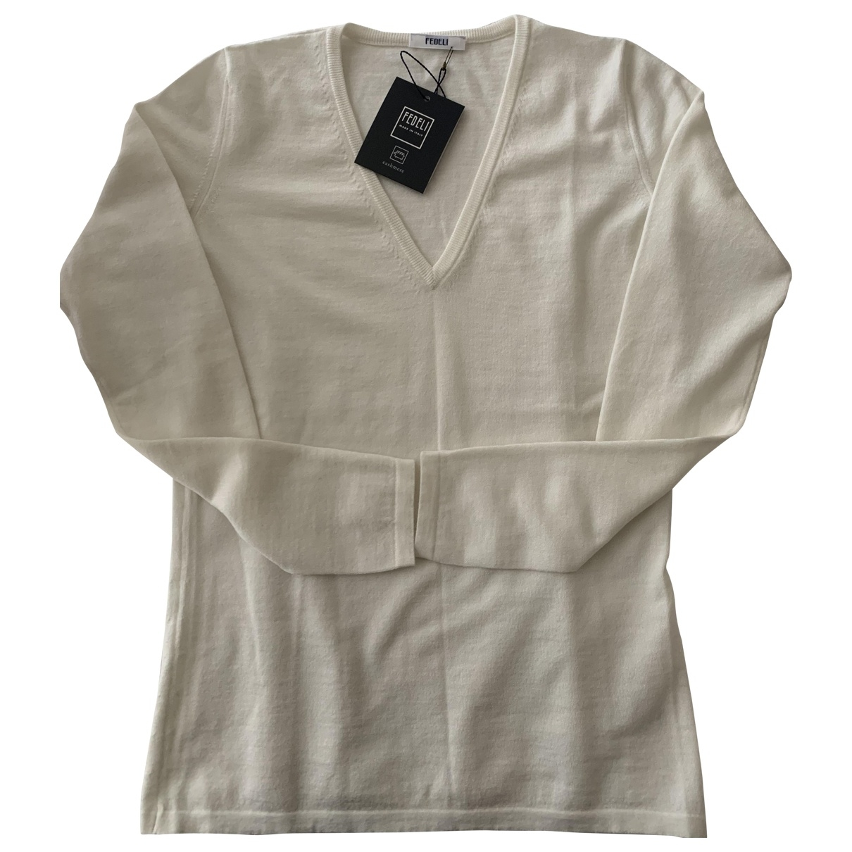 Non Signé / Unsigned \N Beige Cashmere Knitwear for Women 40 IT