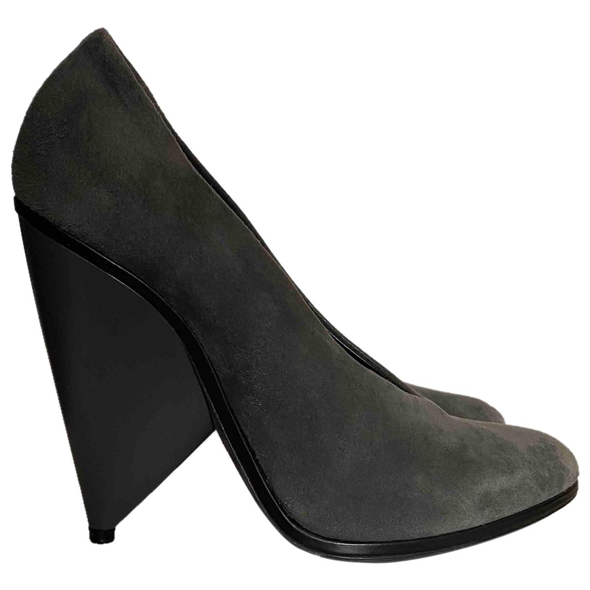 Balenciaga \N Anthracite Suede Heels for Women 40 EU