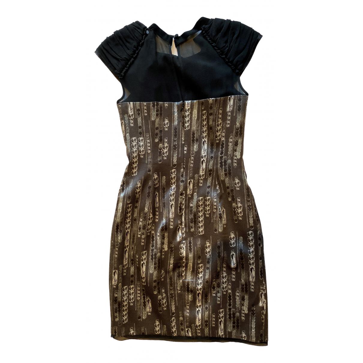 Karen Millen \N Kleid in  Silber Seide