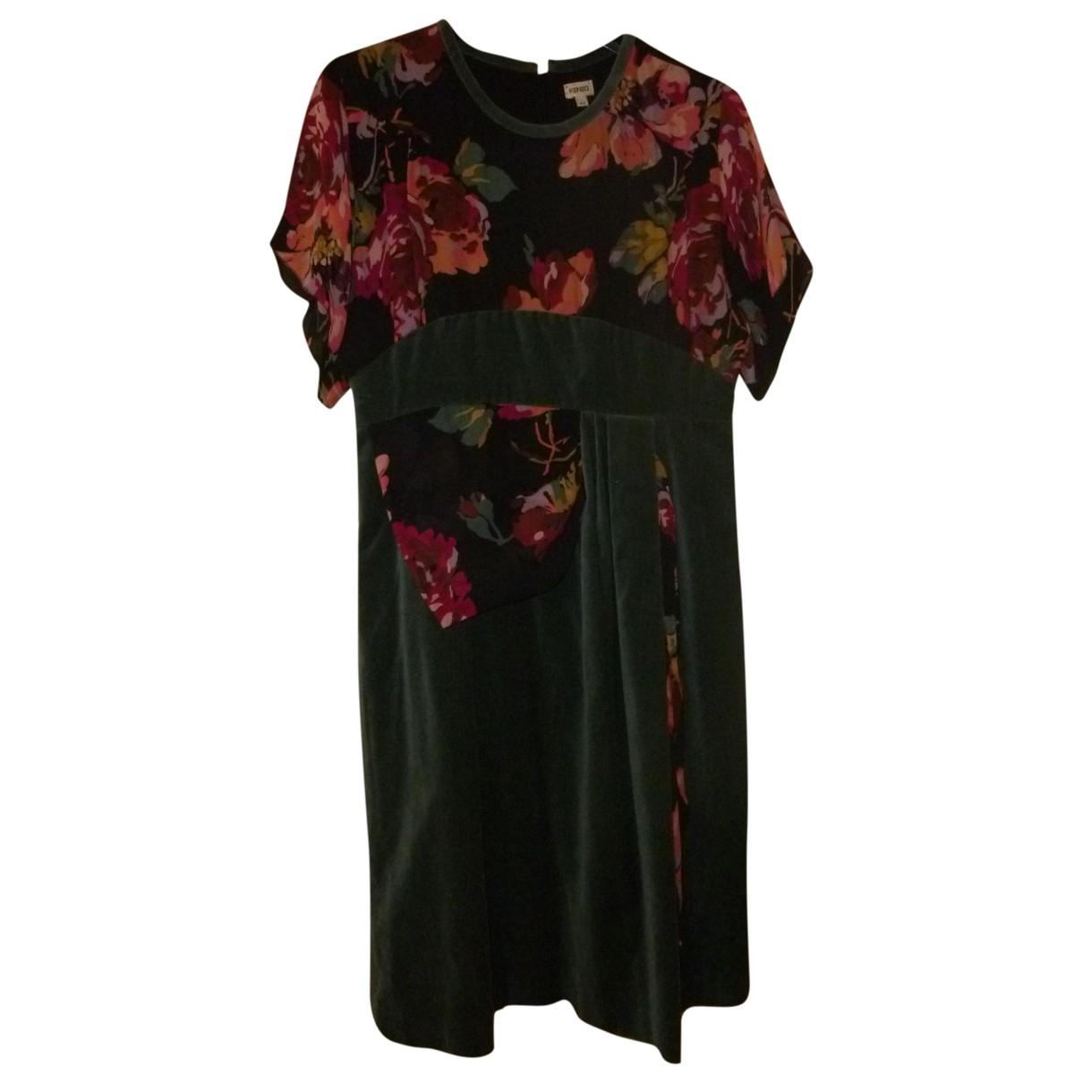 Kenzo - Robe   pour femme en velours - vert