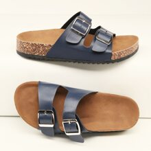 Twin Buckle Cork Footbed Sandals