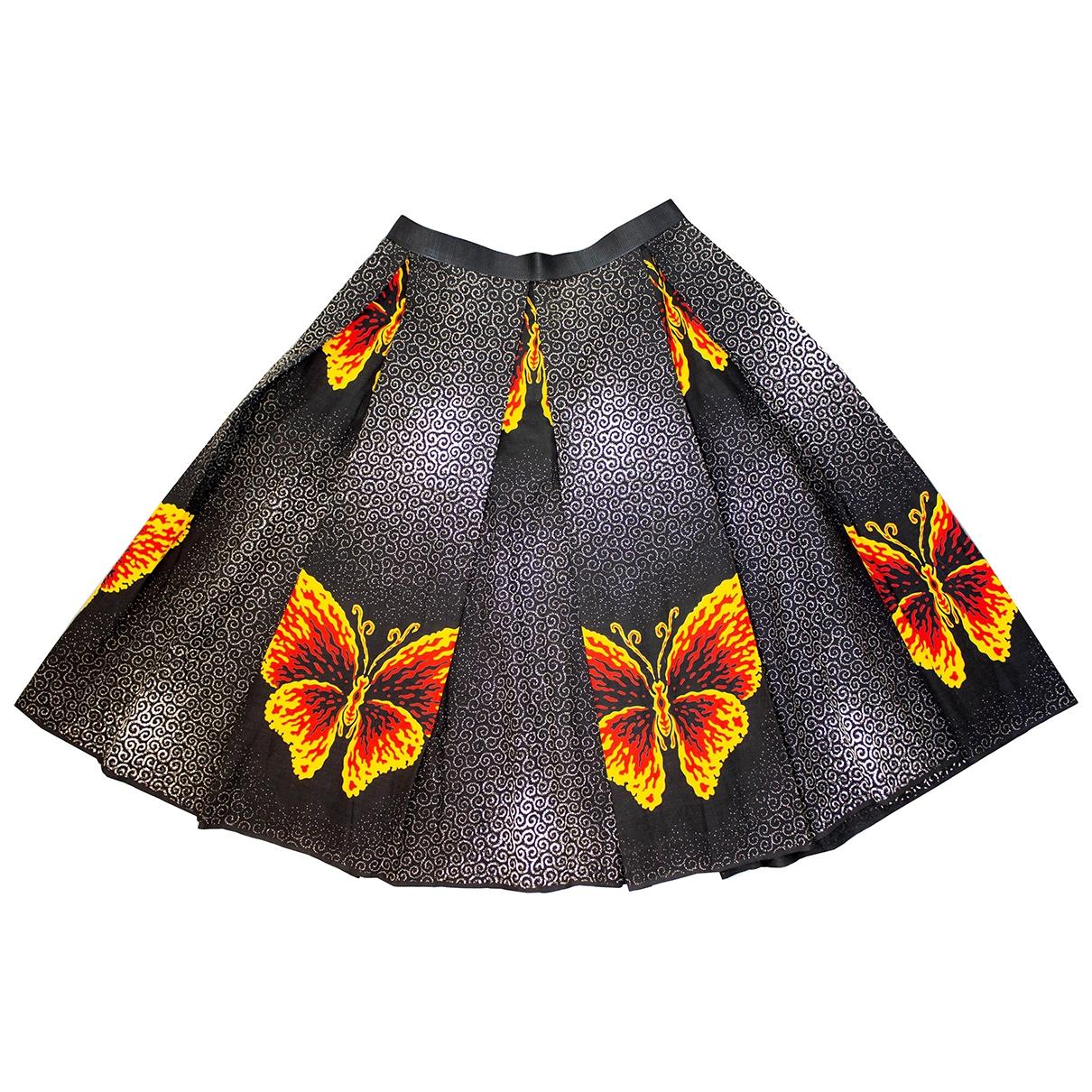 - Jupe Hippie Chic pour femme en coton - noir