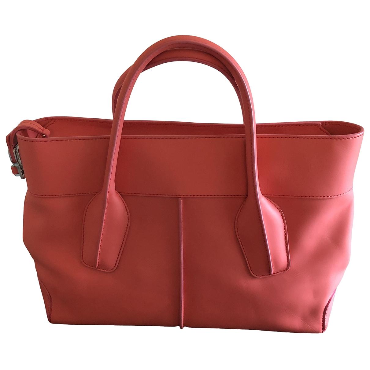 Tods \N Handtasche in  Rosa Leder